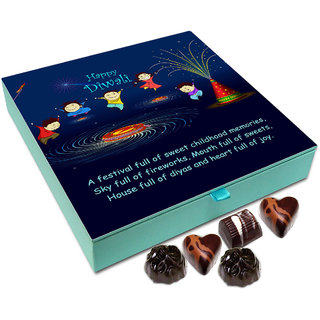 Chocholik Diwali Gift - The Festival Of Diwali Is Full Of Fireworks And Sweets Chocolate Box - 9pc