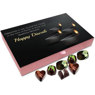 Chocholik Diwali Gift - Enjoy The Sparkling Moments Of Diwali Chocolate Box - 12pc