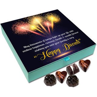 Chocholik Diwali Gift - On This Diwali May Thousands Of Lamps Light Up Your Life Chocolate Box - 9pc