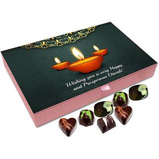 Chocholik Diwali Gift - Wishing  You A Very Happy And Prosperous Diwali Chocolate Box - 12pc