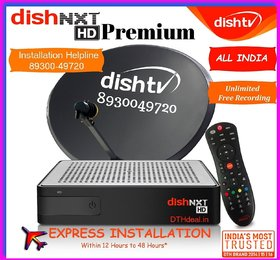 DISHTV NXT Premium HD with Recorder- Multi Connection with 30 days FULL HD Pack