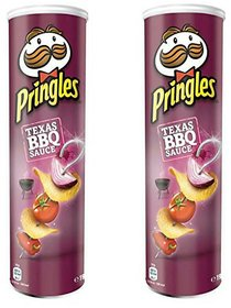 Pringles Potato Chips, Barbeque, 165g (Pack Of 2)