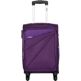 Safari Medium Purple Fabric 4 Wheels Trolley