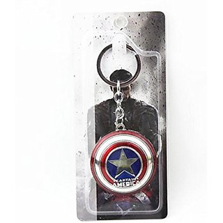 Ezzideals Metal Captain America with Handle Keychain (5cm)