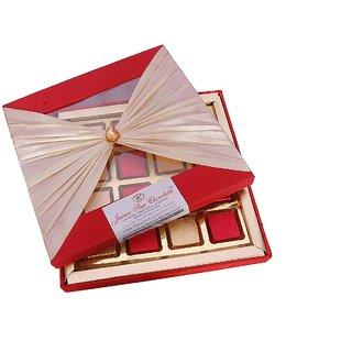 Jainco Bow Box 4 Type of Chocolate Gift Pack Red