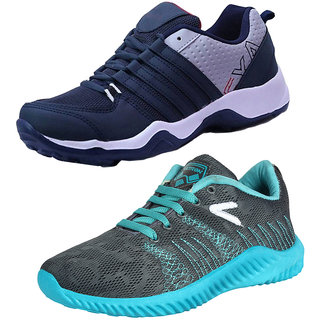 Super Combo-Multicolor Pack of 2 Men Sports Running Shoes - Multicolor