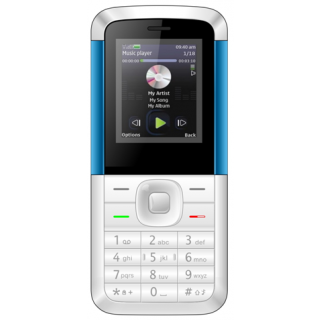 IKall K5310 White-Blue 1.8 Inch Dual Sim Bis Certified Made In India Battery Saver (No Earphones) Feature
