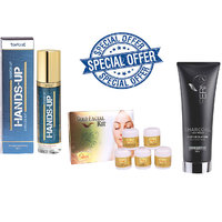 Special offer combo of Hands Up Deo,Ferns Face Wash and Fabia Facial Gold Kit