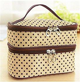 Aeoss  Aeoss Fashion Double-deck Travel Toiletry Beauty Cosmetic Bag Makeup Case Organizer Zipper Holder Handbag (PINK)
