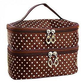 Aeoss  Aeoss Fashion Double-deck Travel Toiletry Beauty Cosmetic Bag Makeup Case Organizer Zipper Holder Handbag (BLUE)