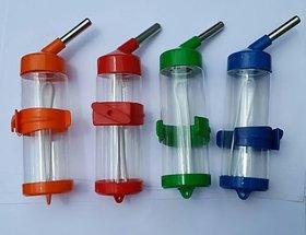 Plastic bottle with stainless steel nozal for small pet like hamster.birds 125ML