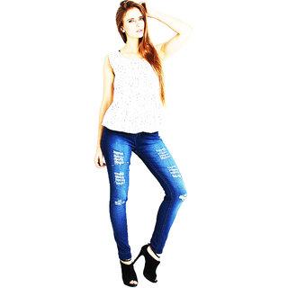 Ave Fashion Wear Damage Denim Jeans For Women