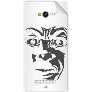 Snooky Digital Print Tpu Transpanent Mobile Skin Sticker For Lava Flair Z1
