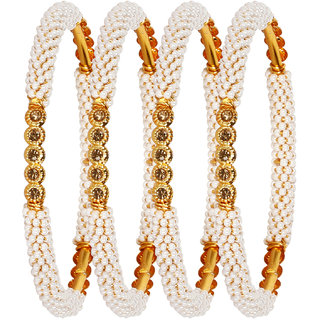 Penny Jewels Alloy Traditional Gold Plated Funky Stylish Bangles Set For Women  Girls