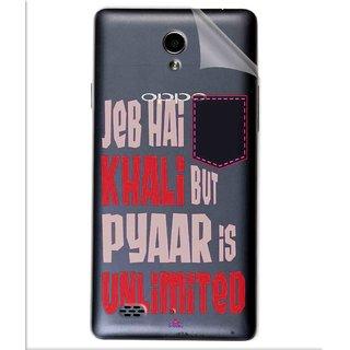 Snooky Digital Print Tpu Transpanent Mobile Skin Sticker For Oppo Joy 3