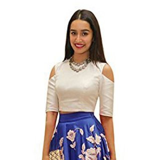 Aika Benglori Silk Embroidery Lehenga Choli For Women ( BlueWhiteFree Size)-LAHF2189