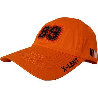 X-lent Baseball Unisex Caps 100 Cotton Summer Cap For Men Women Orange Color Caps