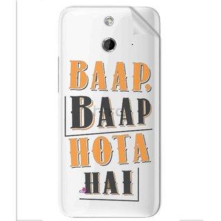 Snooky Digital Print Tpu Transpanent Mobile Skin Sticker For Htc One E8