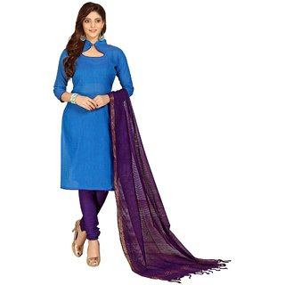 8ed2e334aa Buy Minu Suits Salwar Suits Sets Cotton Blue Stitched XX-Small ...