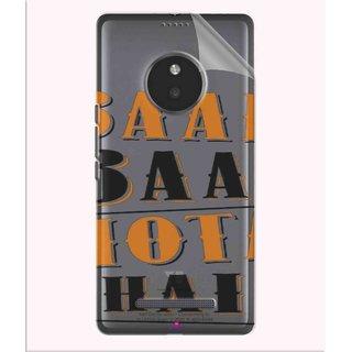 Snooky Digital Print Tpu Transpanent Mobile Skin Sticker For Micromax Yu Yunique