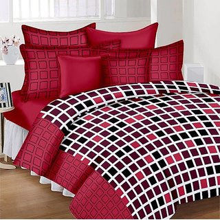 Shivaay Home Creations Cotton Double Bedsheet With 2 Pillow Covers