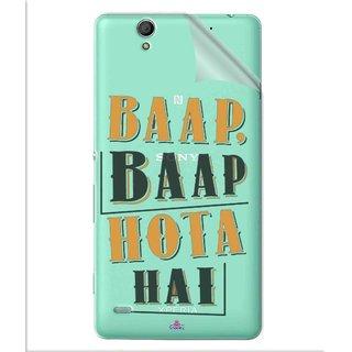 Snooky Digital Print Tpu Transpanent Mobile Skin Sticker For Sony Xperia C4