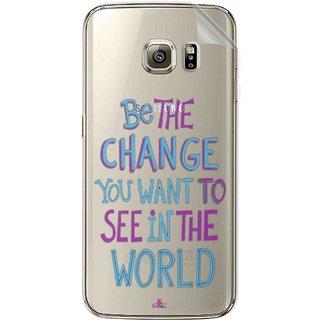 Snooky Digital Print Tpu Transpanent Mobile Skin Sticker For Samsung Galaxy S6 Edge