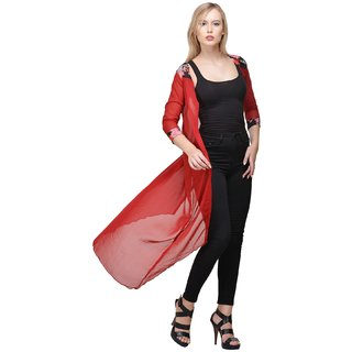 Raabta Red Long GGT Shrug for Women