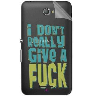 Snooky Digital Print Tpu Transpanent Mobile Skin Sticker For Sony Xperia E4