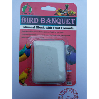 Birds Calcium Block Banquet Mineral Block with Fruit Formula Good for Canary Finch LoveBirds