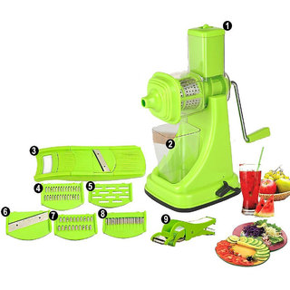 Ankur MultiUtility Kitchen Combo of Juicer, 6 in 1 Slicer and Vegetable Cutter with Peeler