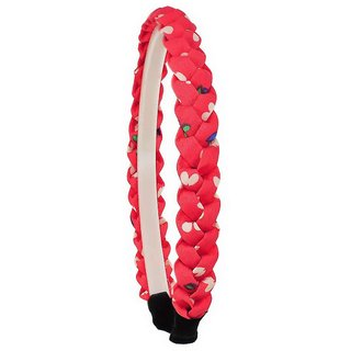 Maayra Kids Girls Hair Band Designer in Pink for Dailywear Pack of 1