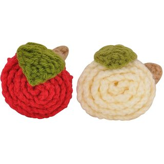 Maayra Kids Rubber Bands Flowers in Red White for Dailywear Pack of 2