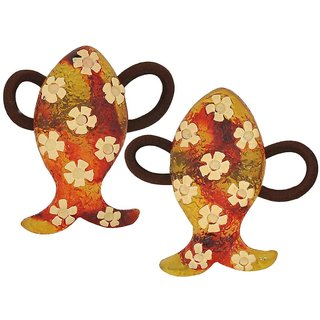Maayra Kids Girls Rubber Bands Fish in Brown for Dailywear Pack of 2