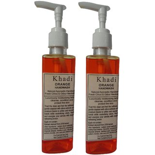 Khadi Orange Handwash 210 ML (Pack of 2)