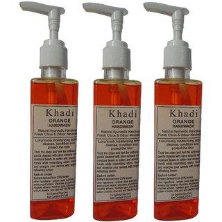 Khadi Orange Handwash 210 ML (Pack of 3)