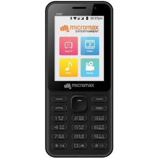 Micromax Bharat 1 Single Sim  4G VoLTE, 512 MB, 4  GB  Black Feature Phones