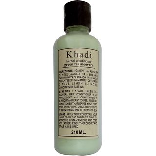 Khadi Green Tea Alovera Hair Conditioner 210 ML (Pack of 1)