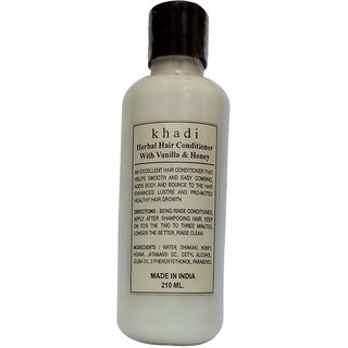 Khadi Honey Vanilla Hair Conditioner 210 ML (Pack of 1)
