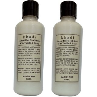 Khadi Honey Vanilla Hair Conditioner 210 ML (Pack of 2)