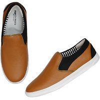 Marco Ferro Men's Beige Slip On Smart Casuals Shoes