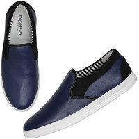 Marco Ferro Men's Blue Slip On Smart Casuals Shoes