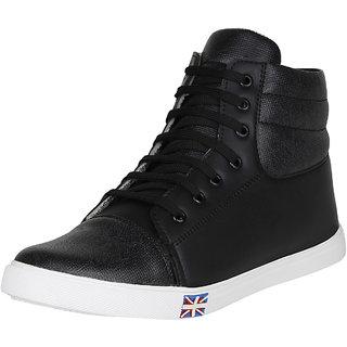 Koxko Men's Black Lace-up Boots