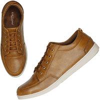 Marco Ferro Men's Tan Lace-up Smart Casuals Shoes