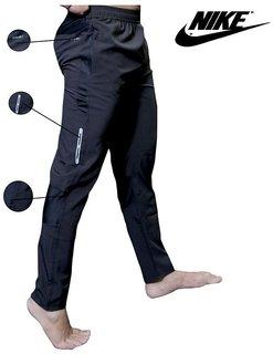 Nike Men's Black Polyester Lycra Track pant