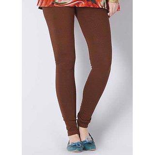 Kriso Coffee Cotton Lycra Churidar Legging Legging SizeXL