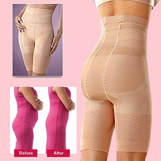 Leox High Waist Mid Thigh Super Control Tummy Tucker Women's Shapewear