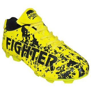 Arynas Womens Port Fighter Yellow Pu Soccer Shoes