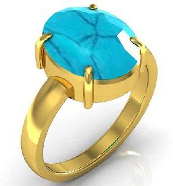 22b4d934f05b6 Natural Turquoise Firoza Ring Stone Turquoise Ring Jaipur Gemstone