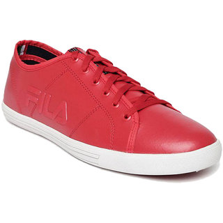 Fila Mens Red Lace-up Smart Casuals